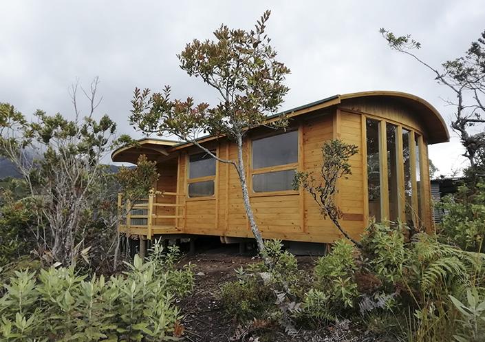 cabaña prefabricada de madera