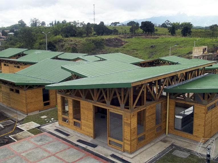 construcción prefabricada de madera